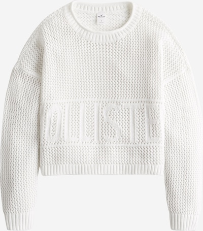 Pulover 'FASHION GRAPHIC SWEATER' HOLLISTER pe alb, Vizualizare produs