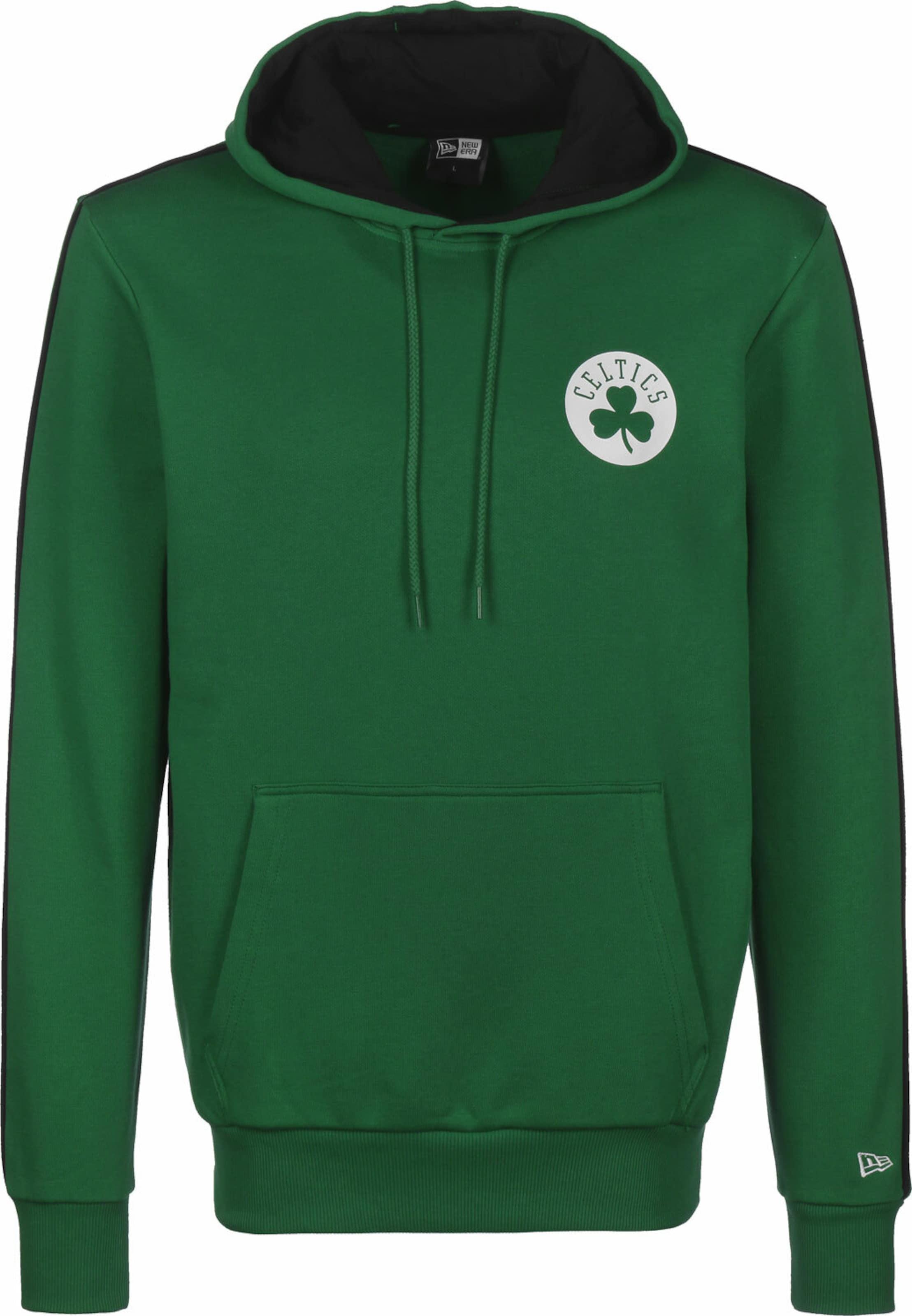 NEW ERA Sweatshirt 'Stripe Piping Boston Celtics' in grün Baumwolle KK75118011