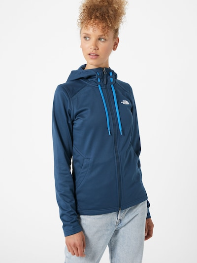 THE NORTH FACE Veste en polaire fonctionnelle 'Mezzaluna' en bleu / blanc: Vue de face
