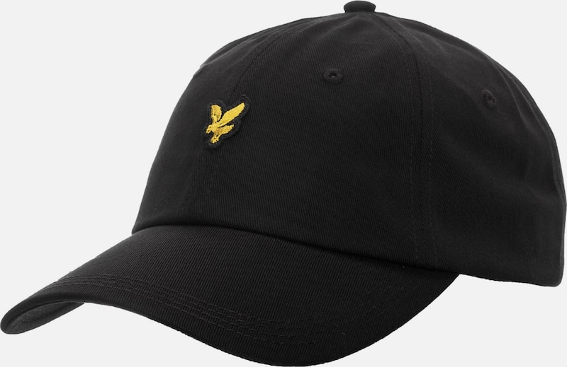 Lyle & Scott Cap 'Cotton Twill' in gelb / schwarz, Produktansicht