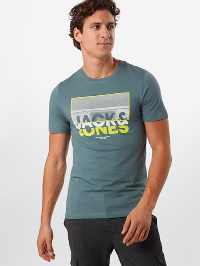 JACK & JONES Koszulka 'JCOTUNEL' w kolorze turkusowym: Widok z przodu