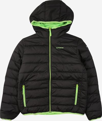 ICEPEAK Sport-Jacke 'Kline' in graphit / kiwi, Produktansicht