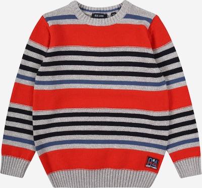 BLUE SEVEN Pullover in blau / grau / rot, Produktansicht