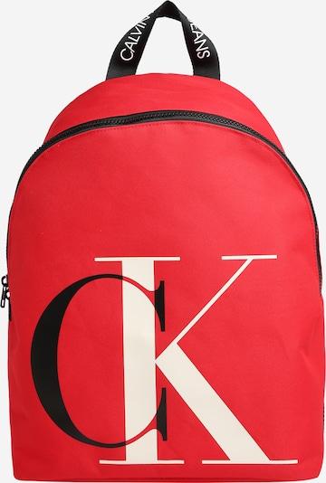 Calvin Klein Jeans Rucksack in rot / schwarz / weiß, Produktansicht