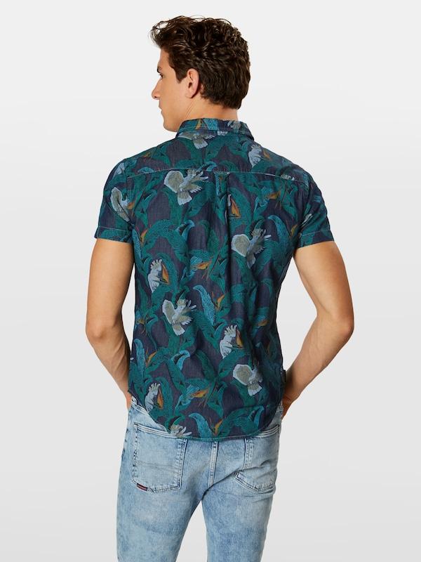 Chemise Superdry Loom 'miami Shirt' Bleu En XkiuPOZ