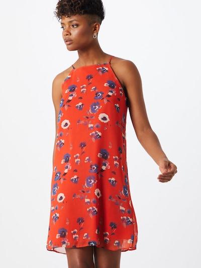 Trendyol Kleid in beige / blau / altrosa / melone, Modelansicht