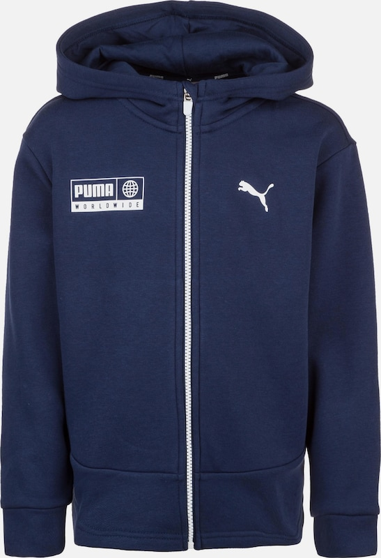 PUMA Sweatjacke 'Alpha Graphic' in blau, Produktansicht