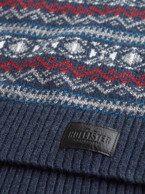 Hollister Pullover 'xm18 Mw Pattern Crews' navy Herren