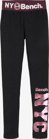 BENCH Leggings in pink / schwarz, Produktansicht