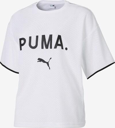 PUMA T-Shirt 'Chase Mesh' in schwarz / weiß, Produktansicht