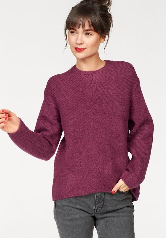 REPLAY Pullover in bordeaux, Modelansicht