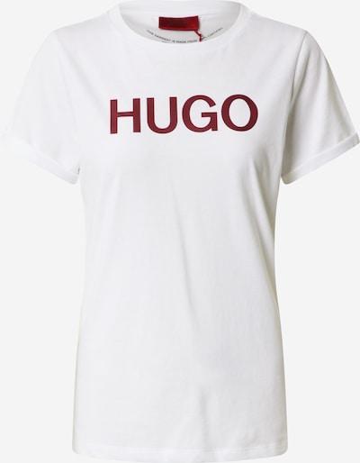 HUGO T-Shirt in weinrot / weiß, Produktansicht