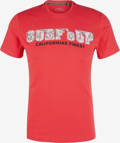 s.Oliver Shirt in rot / weiß: Frontalansicht
