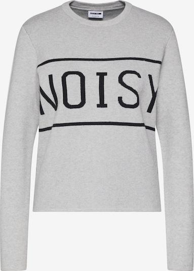Megztinis 'NOISY' iš Noisy may , spalva - šviesiai pilka / juoda: Vaizdas iš priekio