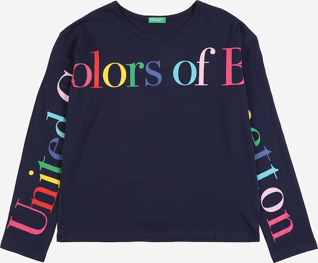 UNITED COLORS OF BENETTON Shirt in dunkelblau, Produktansicht