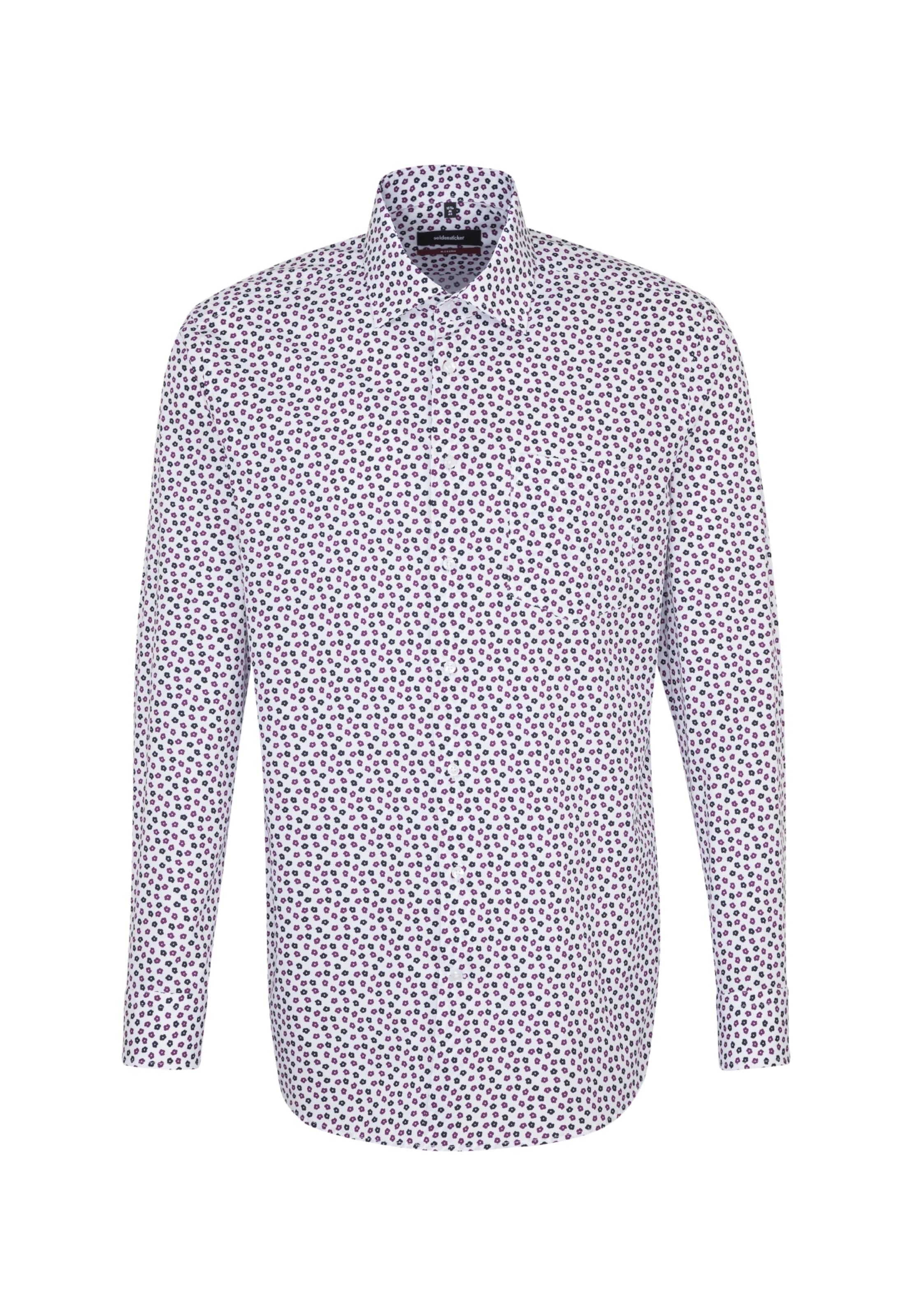 Seidensticker Hemd 'modern' In Weiß BlauLila bYWDeE2IH9