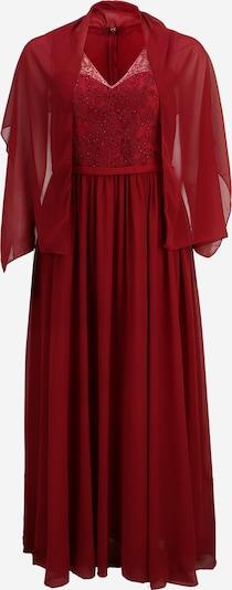My Mascara Curves Večerné šaty 'LACE V' - vínovo červená: Pohľad spredu