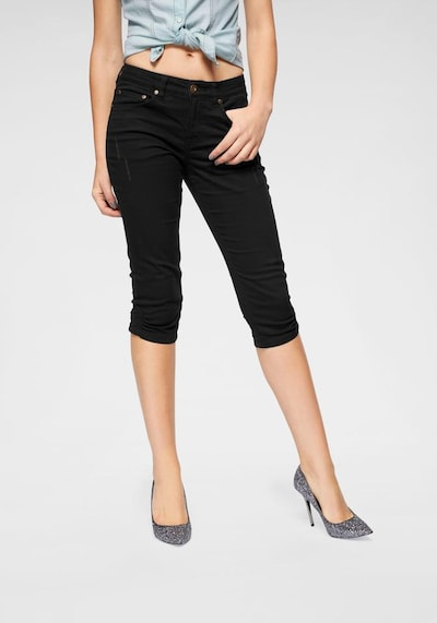 ARIZONA Caprijeans in schwarz, Modelansicht