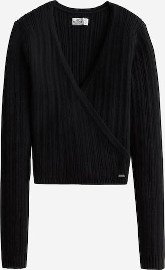 HOLLISTER Pullover 'TIE BACK WRAP SWEATER' in schwarz, Produktansicht