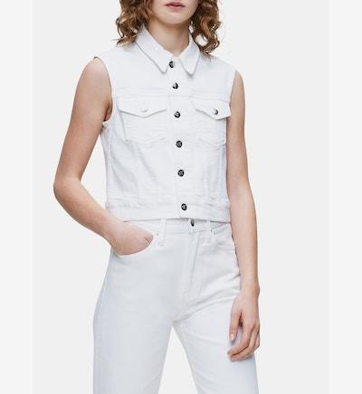 Calvin Klein Jeans Bodywarmer in de kleur Wit, Modelweergave