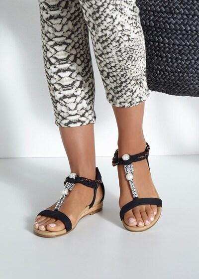 LASCANA Sandale in schwarz: Frontalansicht