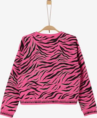 s.Oliver Sweatshirt in pink / schwarz: Frontalansicht