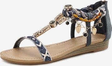 LASCANA Sandale in Blau