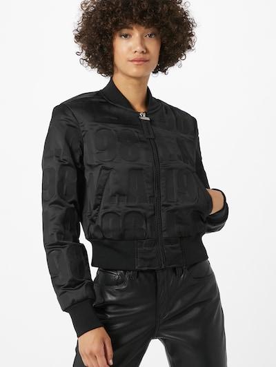 GUESS Prechodná bunda 'ELLY' - čierna: Pohľad spredu