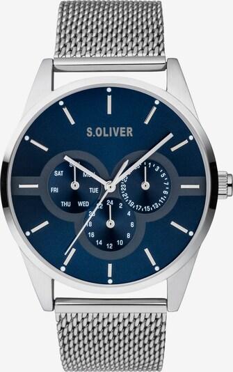 s.Oliver Uhr in nachtblau / silber, Produktansicht