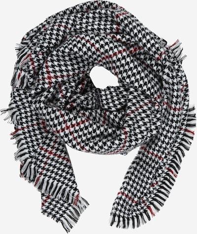 ONLY Schal 'Sia' in anthrazit / rot / schwarz, Produktansicht