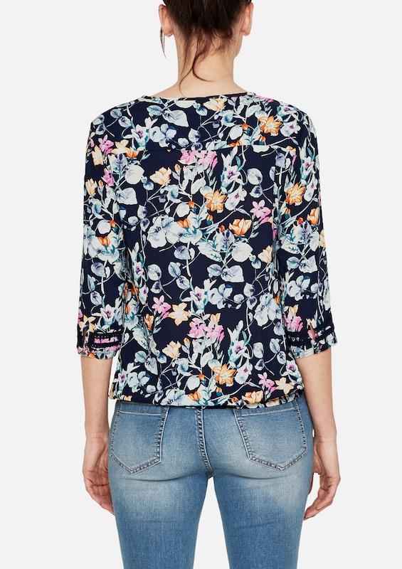 s.Oliver RED LABEL O-Shape-Bluse mit floralem Print