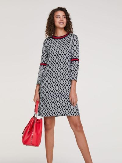 heine Kleid in schwarz / weiß: Frontalansicht
