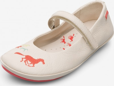 CAMPER Ballerinas 'Twins' in creme / orange, Produktansicht