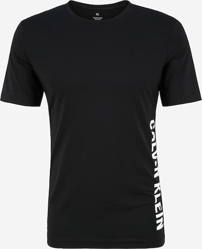 Tricou funcțional Calvin Klein Performance pe negru / alb, Vizualizare produs