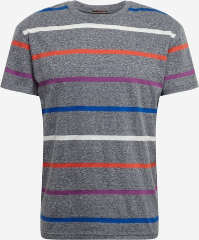 JACK & JONES T-Shirt 'JORRELAXIE TEE SS CREW NECK' en bleu / violet / orange / blanc, Vue avec produit