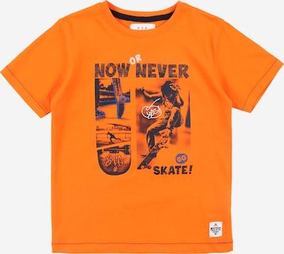 STACCATO T-Shirt in blau / dunkelorange / schwarz / weiß, Produktansicht