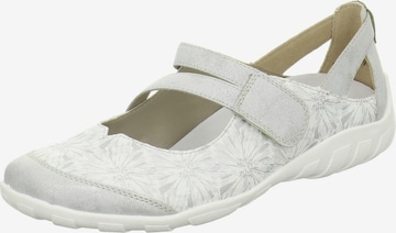 REMONTE Ballet Flats with Strap in Grey