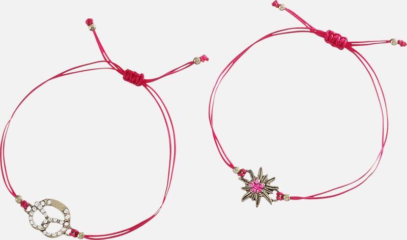 Alpenflüstern Trachtenarmband Damen mit Ziehverschluss