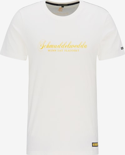Schmuddelwedda T-Shirt in gelb / weiß, Produktansicht