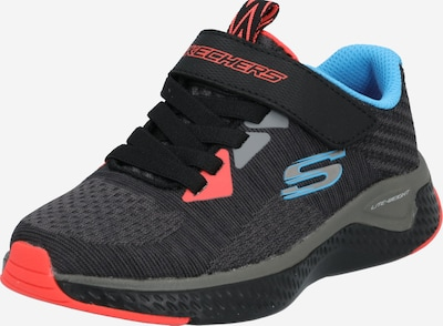 SKECHERS Schuhe 'Solar Fuse' in blau / graumeliert / rot, Produktansicht