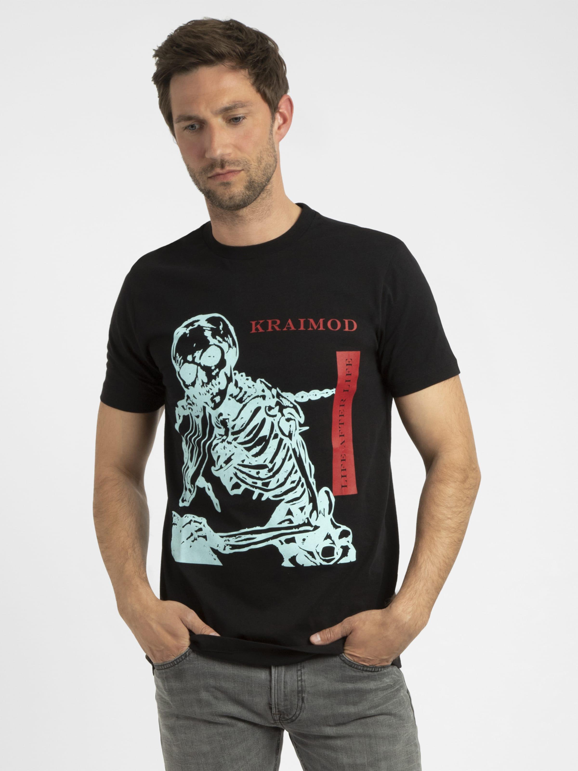APART T-Shirt in mint / rot / schwarz Baumwolle 4053041340471