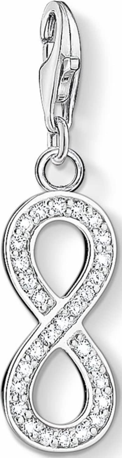 Thomas Sabo Charm-Anhänger 'Infinity' in silber / weiß, Produktansicht