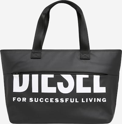 DIESEL Shopper torba u crna / bijela, Pregled proizvoda