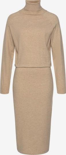 Rochie tricotat LASCANA pe maro cămilă, Vizualizare produs
