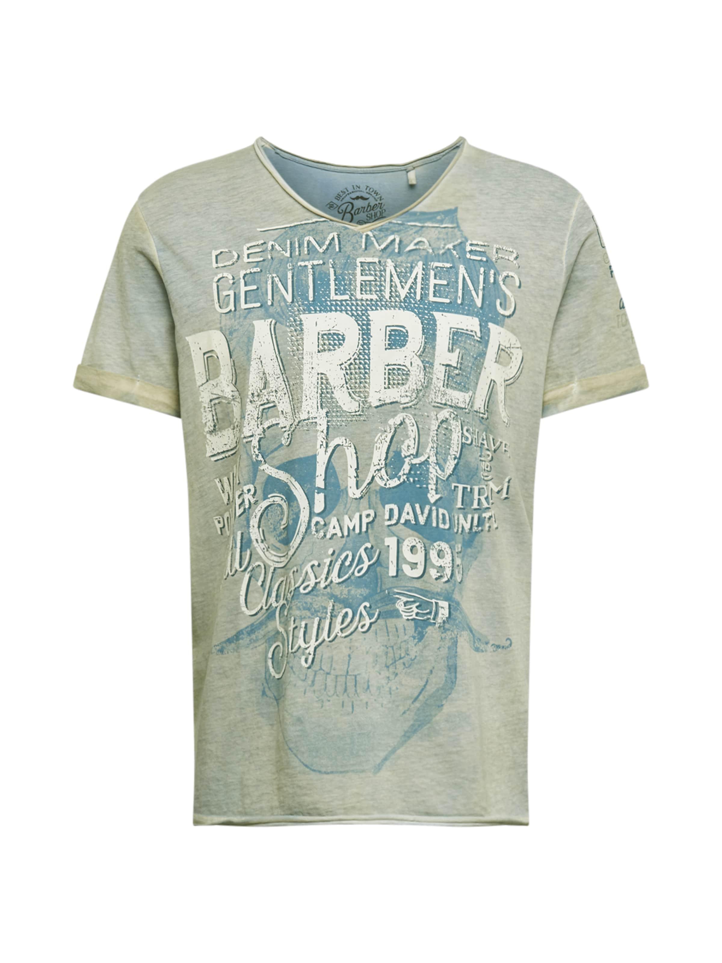 CAMP DAVID T-Shirt en bleu / gris tINWc9