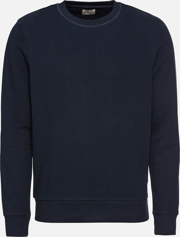 JACK & JONES Sweatshirt 'JJEHOLMEN SWEAT CREW NECK' in de kleur Navy, Productweergave
