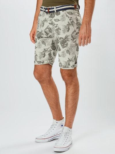 INDICODE JEANS Spodnie 'Grantly' w kolorze beżowy / zielonym, Podgląd na modelu(-ce)