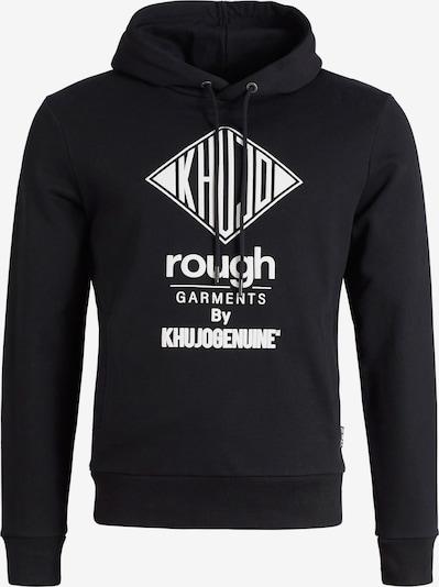 khujo Sweatshirt 'Wilbur Standard' in schwarz / weiß, Produktansicht