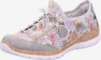 RIEKER Schnürschuhe in hellblau / grau / rosa / weiß, Produktansicht