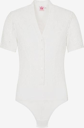 SPIETH & WENSKY Trachten-Body 'Madelene' in weiß, Produktansicht